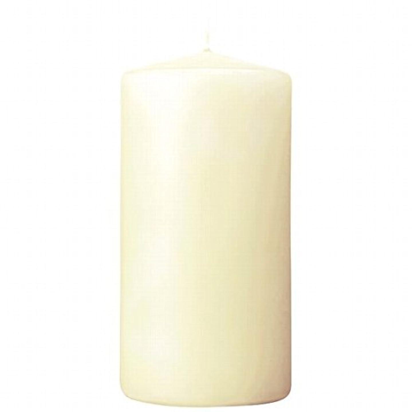 リンケージ移住するバレーボールカメヤマキャンドル(kameyama candle) 3×6ベルトップピラーキャンドル 「 アイボリー 」