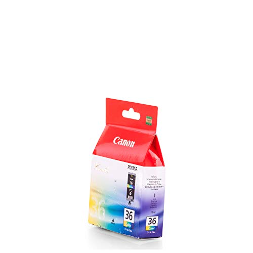 1x Original cartucho de tinta Canon PIXMA iP 100, 100Portable V, cli36–Color
