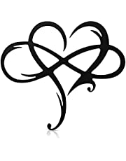Taitan Infinity Hart Staal Muur Decor Metalen Muur Kunst Liefde Muur Teken voor Thuis Bruiloft Decor