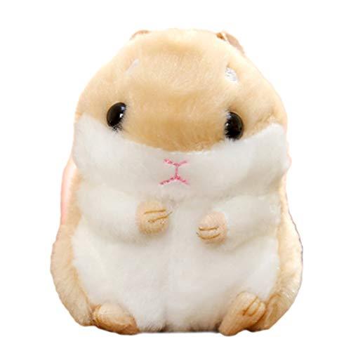 Süßer Plüsch Hamster Puppe Schlüsselanhänger, Creamon Süßer Plüsch Hamster Puppe Schlüsselanhänger Kuscheltiere Schlüsselanhänger Charm Handtasche Anhänger braun