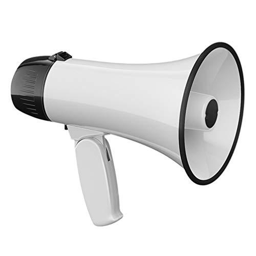 iplusmile 拡声器 拡声器マイク トランペットメガフォン 1個 (白い)