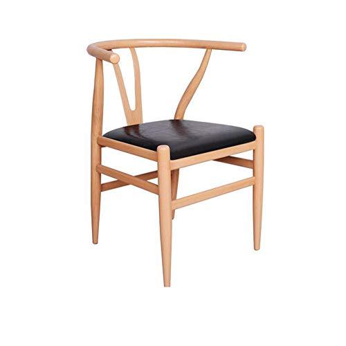 Silla de hierro forjado Comedor minimalista moderno Silla de comedor Silla de respaldo para el hogar (Color : Negro, Size : 72cm)
