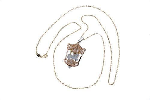 MAGICMOON - Mod. VTP10000259 - Raffinata collana da donna in argento 925 rodiato con ciondolo giostra dei cavalli color rosè