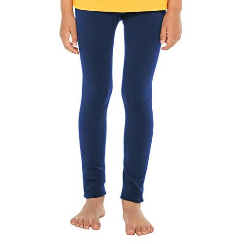 Celodoro Kinder Thermo Leggings (1 Stück) - warme Unterhose lang mit Innenfleece - Blau 110-116