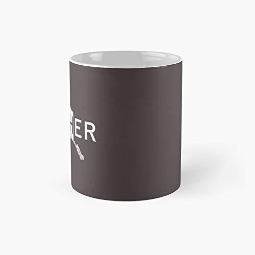 Taza clásica de Alaskan Musher Dog Sledding   El mejor regalo divertidas tazas de café de 325 ml