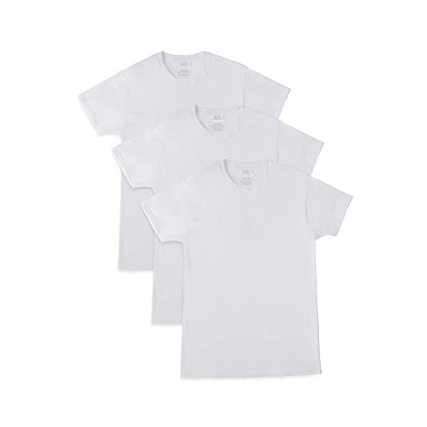 Fruit of the Loom Men's Breathable Cotton Micro-mesh Crew T-Shirt