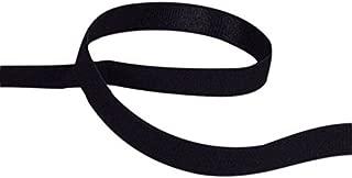 Porcelynne Black Brushed Back Strap Elastics - 1/2