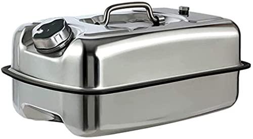 GAOXQ Tanque De Combustible Portátil, Tanque De Almacenamiento De Combustible De Acero Inoxidable 304, Tanque De Combustible Universal con Asa Y Tubo De Filtro Incorporado 10L