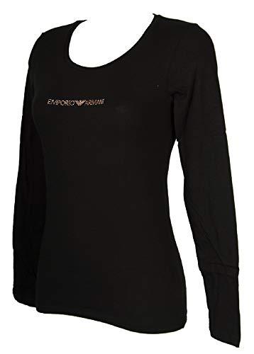 Emporio Armani T-Shirt Langarm Damen U Halsausschnitt Artikel 163378 9A263 L/S T-Shirt U Neck