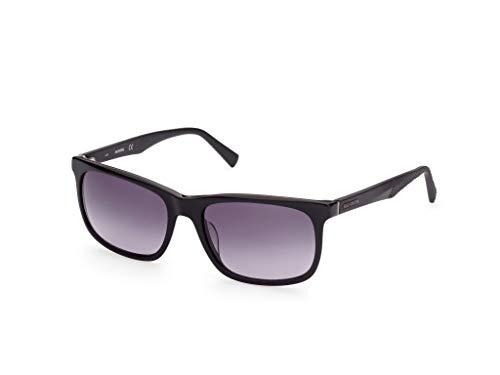 Harley-Davidson Eyewear HD0945X Occhiali, Shiny Black/Gradient Smoke, 58 Uomo