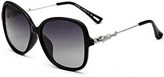 نظارات شمسية نسائية مستقطبة كبيرة الحجم مستديرة كريستال مصمم ستائر حماية من الأشعة فوق البنفسجية بنسبة 100%
