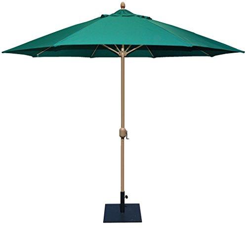Tropishade 11' Sunbrella Patio Umbrella with Forest Green Cover (681HC52)