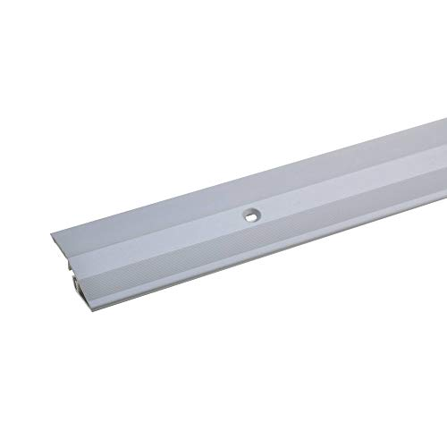 acerto 37146 Höhenausgleichsprofil 100 cm 5-9 mm Ausgleichsprofil Anpassungsprofil silber Übergangsprofil Übergangsschiene Metallprofil Türschiene Bodenprofil Parkett Laminat