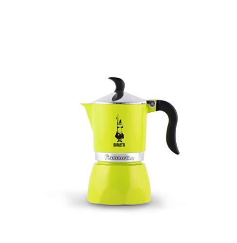 Bialetti Fiammetta, Cafetera 1 taza, aluminio, Electric Lime