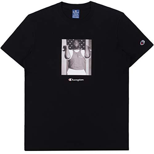 Champion Men T-Shirt Crewneck T-Shirt 214617, Taglia:L, Colore:NBK