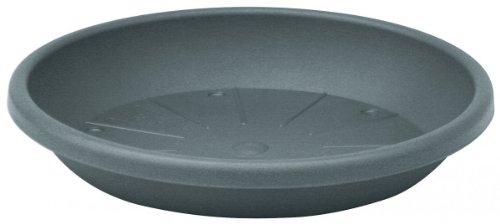 Geli 10er Set Untersetzer Cylindro 33 cm rund aus Kunststoff Sparpaket, Farbe:anthrazit