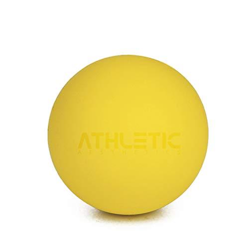 ATHLETIC AESTHETICS Massage-Ball [6cm Durchmesser] - Als Lacrosse-Ball und Faszien-Ball zur Selbstmassage und zur Triggerpunkttherapie (genaue Behandlung von Verspannungen) geeignet (Gelb)
