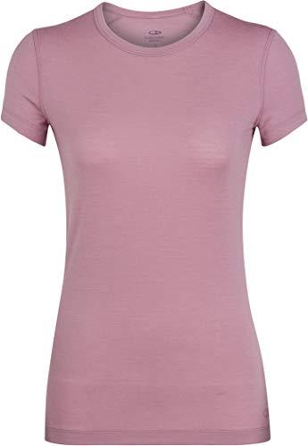 Icebreaker Damen Merino Sprite Short Sleeve Rundhalsausschnitt Layering Shirt für Rucksackreisen & Camping Merinowolle, Damen, Women's Sprite Short Sleeve Crewe, Opal, X-Small