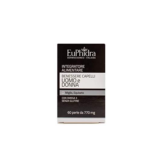 Euphidra Integratore Benessere Anticaduta Capelli Uomo e Donna Euphidra, Multicolor, 60...