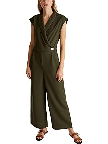 ESPRIT Collection Damen 030EO1L301 Overall, 350/KHAKI Green, XXS