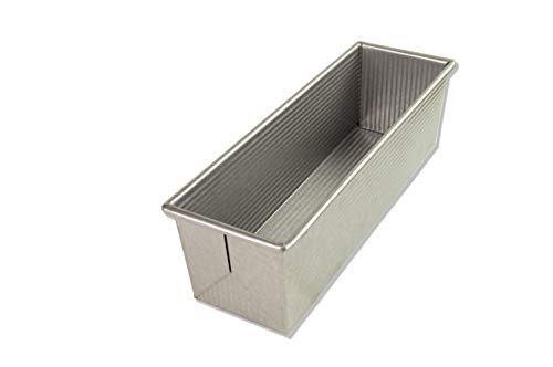 USA Pan Bakeware Pullman Loaf Pan, Large, Silver