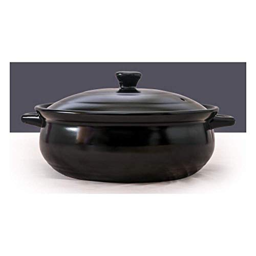 Casserole,stew Pot,Soup Pot,Casserole Dish Cast Iron Casserole Casserole Dish with Lid for Oven Pyrex Casserole Dishes with Lids,Household Commercial Ceramic High Capacity High-Black-5.5L