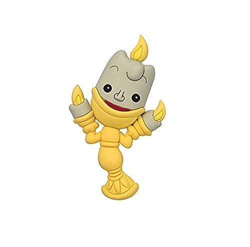 Portachiavi LA Bella E LA Bestia 3D Lumiere CANDELIERE Disney Monogram 7 CM #4