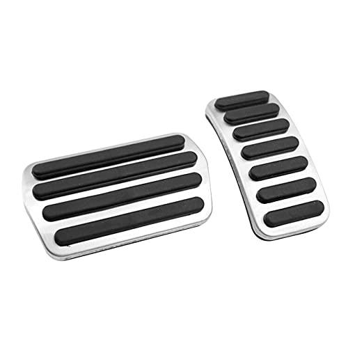 JIERS per Volvo S40 V40 C30 XC30, Pedale acceleratore per Auto in Acciaio Inossidabile Pedale del Gas Pedali della Frizione del Freno Non Perforazione Accessori per Pad di Copertura