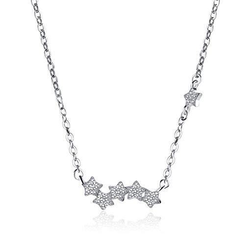 MCAdianpu drie sterren zirkonia hanger halsketting voor vrouwen korte sleutelbeen ketting halsband 925 sterling zilver sieraden