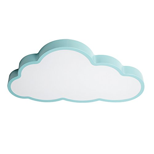 LED Creative Cloud-plafondlamp, Modern blauw/poeder/wit ijzer cloud-decoratie kroonluchter plafondlamp woonkamer slaapkamer kinderkamer plafondlamp, D: 50cm