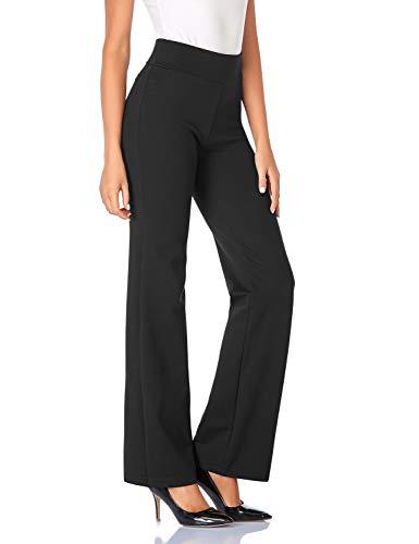 Tapata Femme 81cm Taille Haute Extensible Pantalon Bootcut, Tall/Régulière/Petite pour Le Bureau Affaires Décontracté Noir XXL