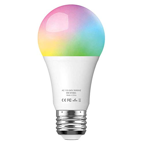 ERAY WLAN Glühbirne, WLAN LED Lampe APP Smart Steurung (iOS/Android), Kompatibel mit Alexa & Google Assistant & IFTTT, 810 Lumen, 9W, E27, WLAN Lampe