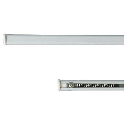 Coppia bastoncini per tende a pressione regolabili da 90 a 160 cm Bianco M953