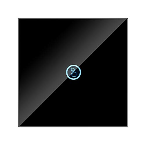 Frieed 433MHz RF eliminado el Interruptor de Control del Interruptor de Pared táctil Interruptor Inteligente del Interruptor 86 Tipo Sassy Panel Switch Durable (Color : Black 1)