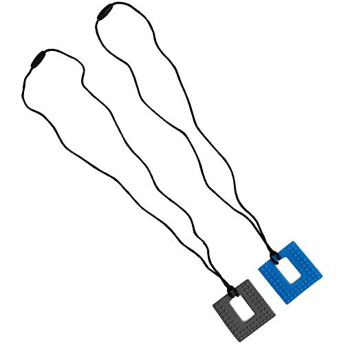 Toddmomy 2 Piezas de Collar de Mordedor para Mordedor para Bebés Y Niñas Collar de Mordedor de Silicona Cuadrado Joyería Masticable Collar de Dentición para Mamá
