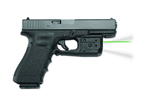 Crimson Trace LL-807G Laserguard Pro with Green Laser, Tactical Flashlight, Heavy Duty Construction and Instinctive Activation for Glock Full Size and Compact Pistols, Defensive Shooting and Competition