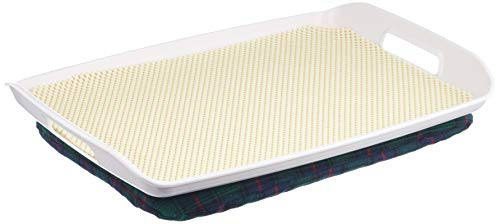 Homecraft Stay Tray with Bean Bag, Stable Lap Tray with Cushion, Non-Slip Mat for Plates and Cups, Flat Surface for Eating Meals, Washable and Comfortable, Use When in Bed or Chair, Elderly, Disabled