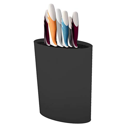 KingSaid Universal Oval Knife Block/Knife holder Without Knives - Keep Knives Organized and Clean