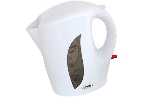 Heru Wasserkocher 1,7 Ltr. weiß 2200 Watt schnurlos