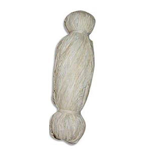 10 Bobines de 50g de raphia végétal coloris blanc, longueur non standardisée de 1 à 1,20m