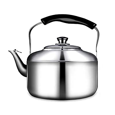 Stainless Steel Tea Kettle For Stove Top-Whistle Tea Kettle, Ergonomic Heat-Resistant Handle Household Large-Capacity Teapot (Color : Silver, Size : 3l)