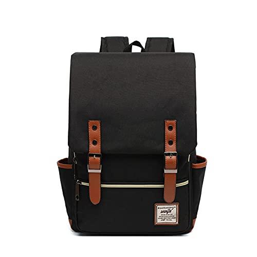 Slim Zaino Del Computer Portatile Vintage Business Bag Per Viaggi College Scuola Casual Daypacks Per Uomini Donne, Nero , 41 cm