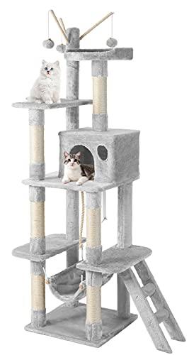 JOYO Cat Tree Cat Tower, 58' Multi-Level Cat Tree for Indoor Cats, Cat Tree House with Hammock,...