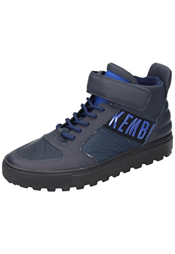 Bikkembergs Track-ER 766 Mid Shoe M Leather/Fabric, Scarpe a Collo Alto Uomo