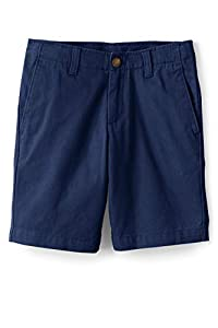 Lands' End Boys Cadet Shorts Deep Sea Navy Big Slim 10