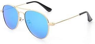 Fashion Fashion Trend Sunglasses Sunglasses Sunglasses Boys and Girls (Color: Blue) Beautiful Metal Children's Polarized Sunglasses Retro (Color : Blue)