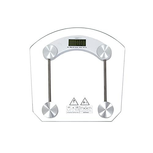 Wangchngqingc Balanza Peso Corporal, Escala de Peso Corporal Cuerpo electrónico Digital LED Piso Báscula Báscula Básipal inalámbrico Escala de Peso electrónico Escala Corporal