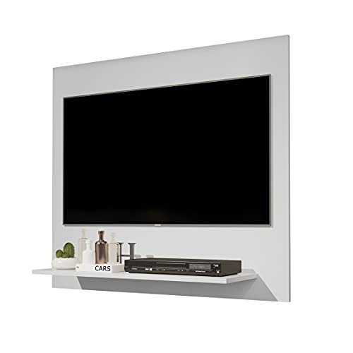 Painel para TV 32 Polegadas Wood - Branco - Mania de Móveis