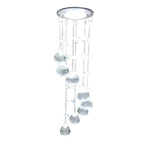 Luz de Techo LED Chime Chime Colgando LUZ Cristal DE Cristal para LA DECURACIÓN DE LA LUMINACIÓN Interior
