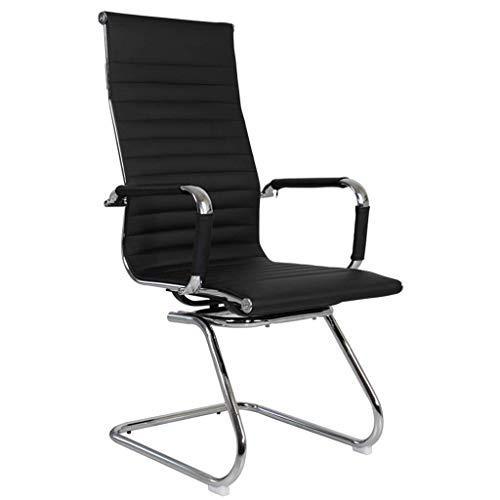 XKUN Computerstuhl Bürostuhl Personalisierter Chefstuhl Home Liegen Arbeitszimmer Bürostuhl Lederstuhl Home Freizeit Lederstuhl Ergonomischer Taillenstuhl Sitzend Nicht Müde,Schwarz,56X101Cm